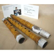 BULGARIAN TRADITIONAL KAVAL FLUTE in B flat, BOXWOOD + DEER HORN!!!