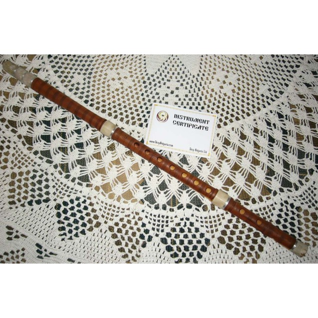 BULGARIAN TRADITIONAL KAVAL FLUTE in C of HINAP TREE, made by Y. Vassilev