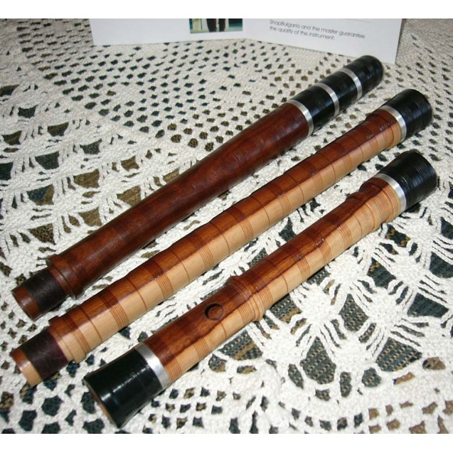 BULGARIAN TRADITIONAL KAVAL FLUTE in B flat, cornel tree - best quality